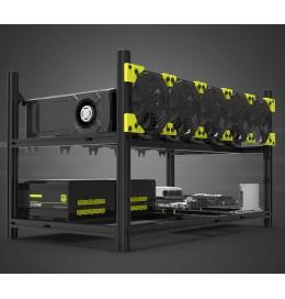 Veddha V3 Classic up to 6 GPU Crypto Mining Rig Frame