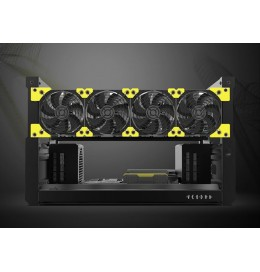 Veddha T3 Deluxe up to 6 GPU Crypto Mining Rig Frame