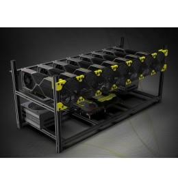 Veddha V4 Classic up to 12 GPU Crypto Mining Rig Frame